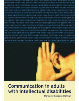 Communication in adults with intellectual disabilities